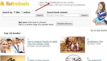 HOT FREE BOOKS  20 000  full text free books