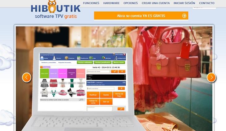 Hiboutik  Software TPV gratis   es