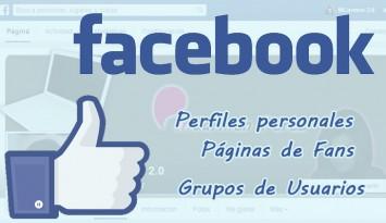 Tres tipos de perfiles en Facebook.