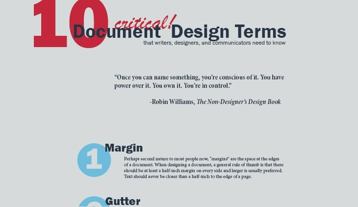10 critical document design terms header