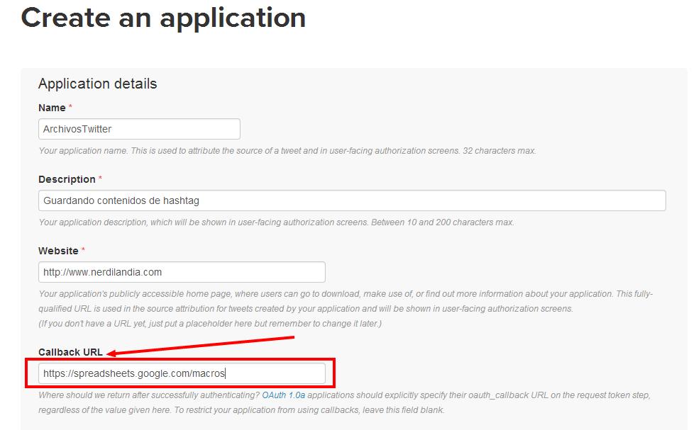 Twitter Application Management