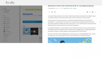 feedly visor slide de noticias en la web