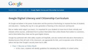Google Digital Literacy and Citizenship Curriculum