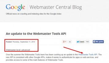 Webmaster Tools API