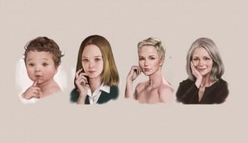 cuatro estapas de vida en una mujer