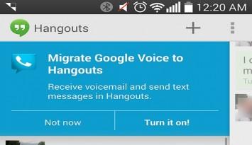 google voice integrate in hangouts