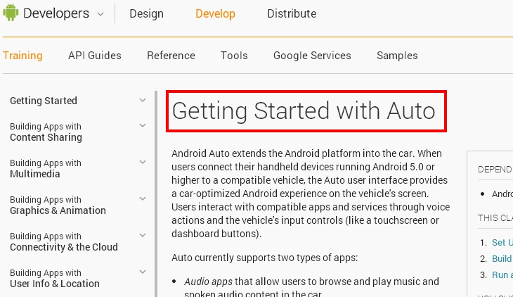 Google libera el api para crear aplicaciones para android for Aplicaciones para android auto