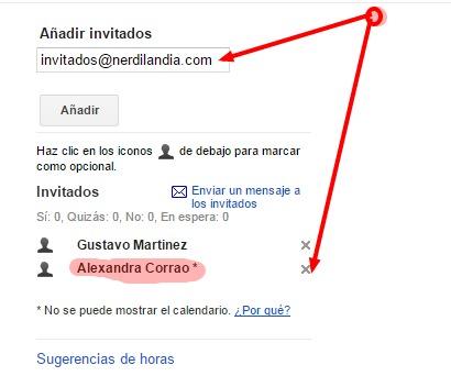 Google Calendar evento 2