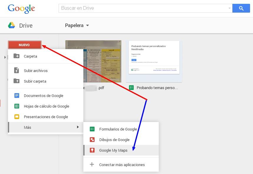crear mapas en google drive
