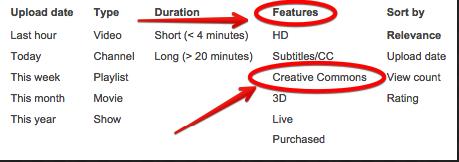 youtube creative commnos