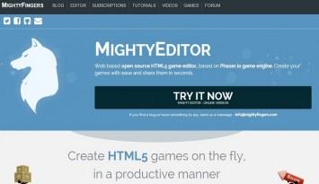 MightyFingers   HTML5 Game Editor   Web Based   MightyFingers