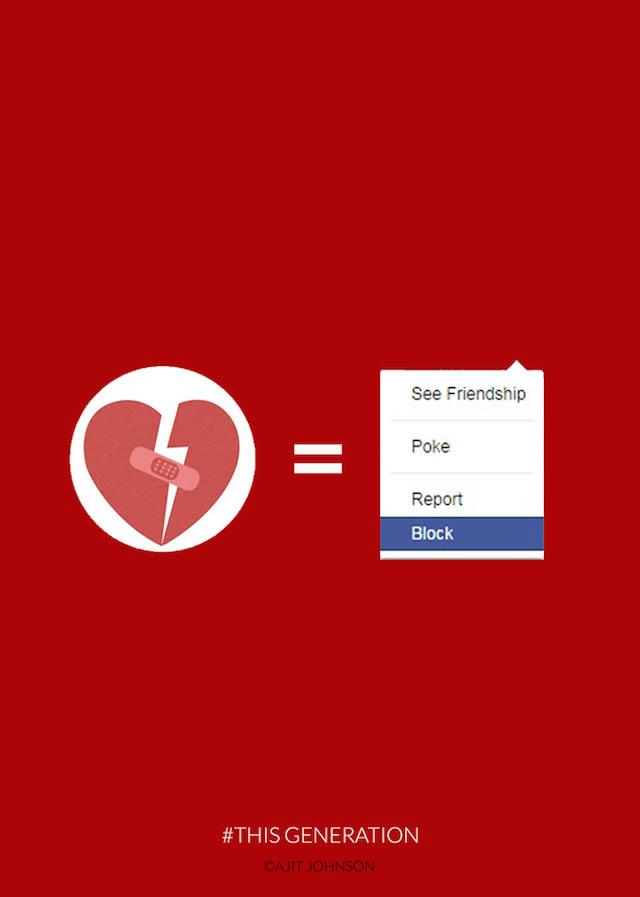 ruptura de pareja por facebook