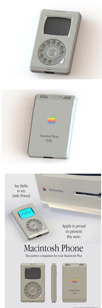 la apariencia del iPhone en 1984