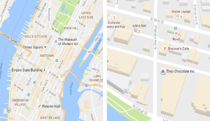 google maps new desing