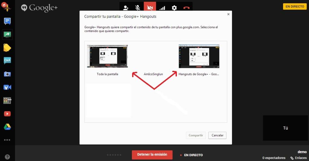 grabar screencast google plus hangouts 6